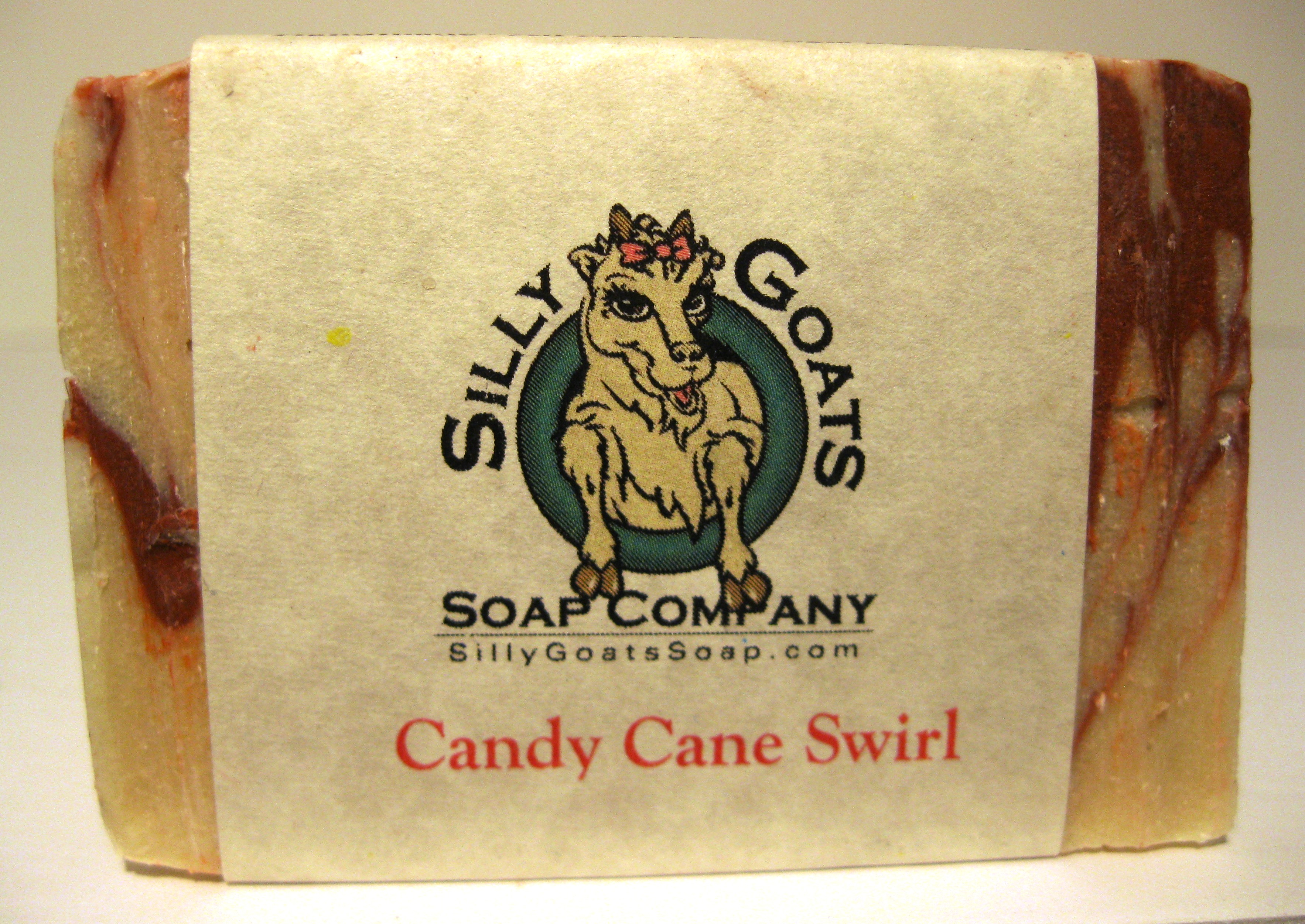 Candy cane swirl goat milk soap silly goats soap company for Peppermint swirl craft show