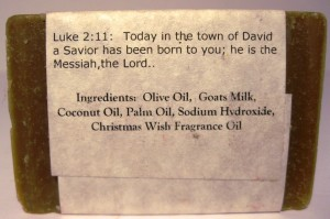 Christmas Wish Goat Milk Soap Ingredients