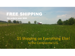 Free Shipping $50 or over