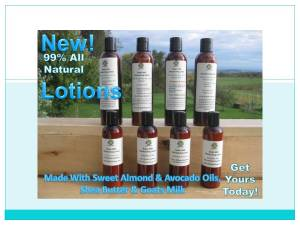 All Natural Lotions