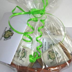 All NaturaAll Natural Goat Milk Soap and Lotion Gift Basketl Goat Milk Soap and Lotion Gift Basket LrgTopViewCloseup