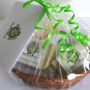 All Natural Handmade Goat Milk Soap & Lotion Gift Basket MedTopView