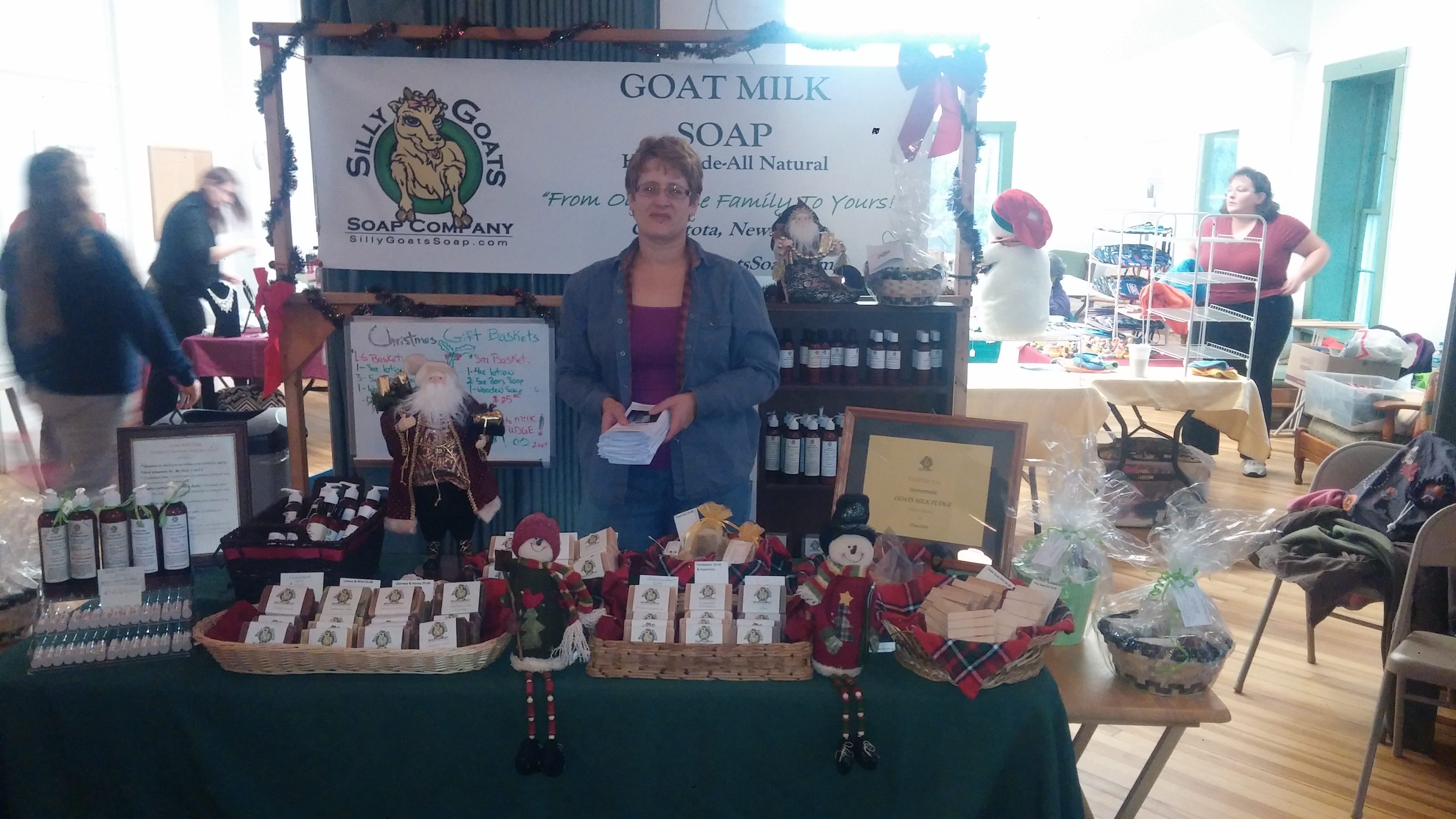 The Lovely Sandy Shaefer & Siily Goats Soap Craft Fair Booth!