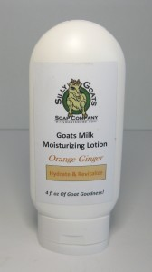 Sweet Orange Ginger Goats Milk Lotion 4oz Bottle