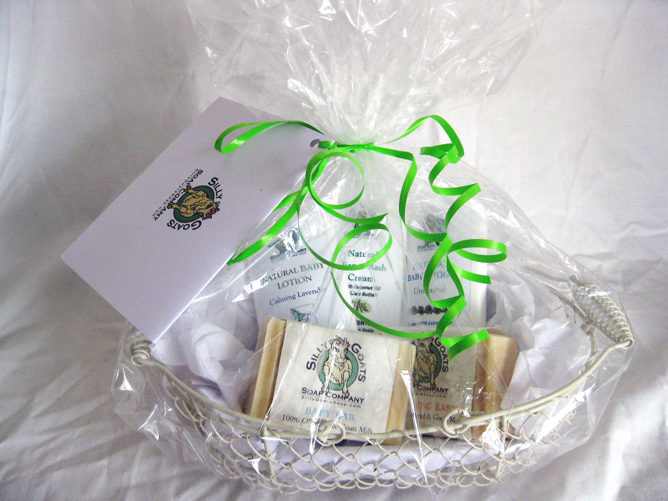 Baby Gift Basket Contents : Baby gift basket silly goats soap company