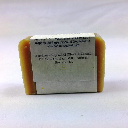 Patchouli Goat Milk Soap - Back