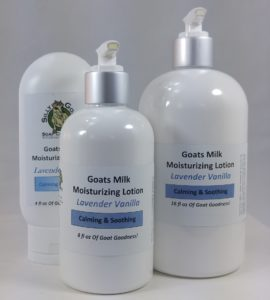 Goat Milk Lotion Lavende Vanilla Lotion Group