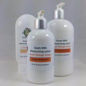 Goat Milk Lotion, Orange Ginger