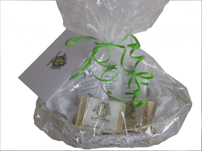 Baby Goat milk Soap Gift Basket Wrapped