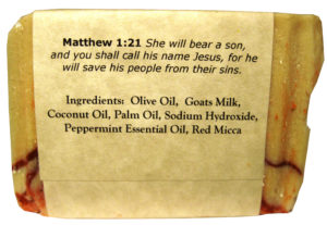 Candy Cane Goat Milk Soap - Silly Goats Soap Company - Ingredients
