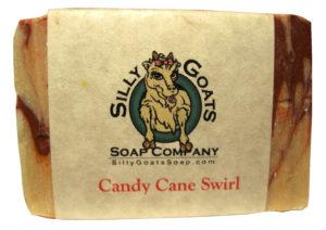 Candy Cane Goat Milk Soap - Silly Goats Soap Company