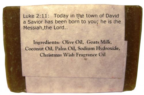 Christmas Wish Goat Milk Soap - Silly Goats Soap Company