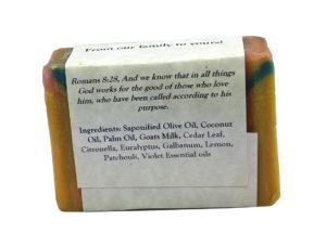 Rainforest Goat Milk Soap Back