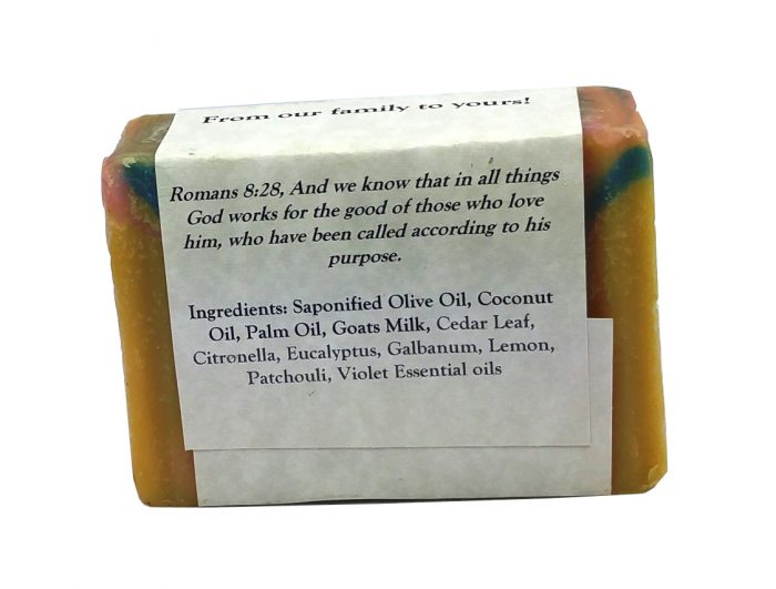 Rainforest Goat Milk Soap Back