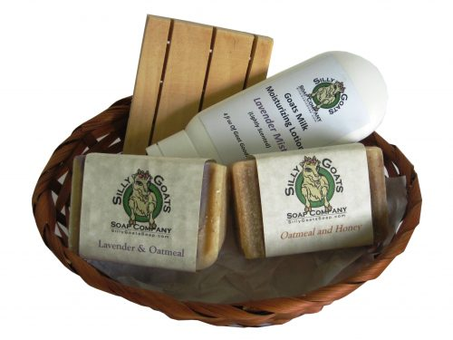 Goat Soap Gift Basket (medium) - Silly Goats Soap Company