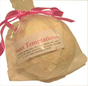 Sweet Temptations Goat Milk Bath Bomb - Silly Goats Soap Company