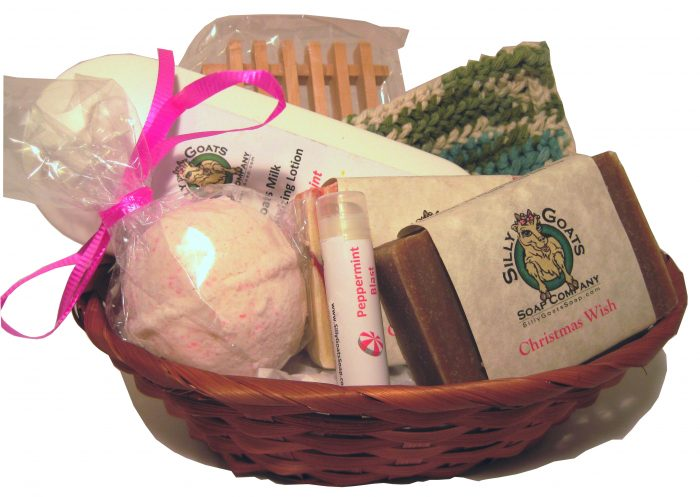 Goat Soap & Lotion Gift Basket (large)-Silly Goats Soap Company
