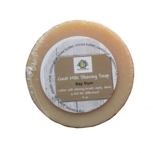 Goat Milk Shaving Soap Bay Rum - Silly Goats Soap Co.