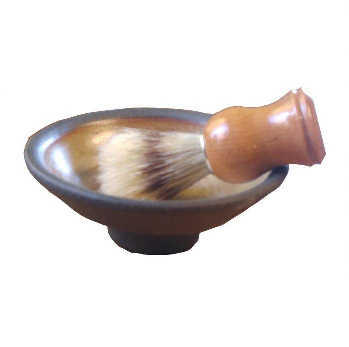 Shaving Dish With Brush