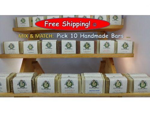 Pick 10 Handmade Goat Milk Soap