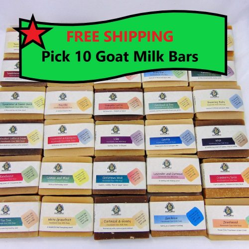 Pick 10 Got Milk Soaps from Silly Goats Soap Co.