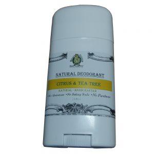 Citrus & Tea Tree Natural Deodorant Without Baking Soda