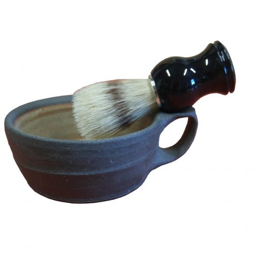 Hand Thrown Ceramic Shaving Mug by Sily Goats Soap Co.
