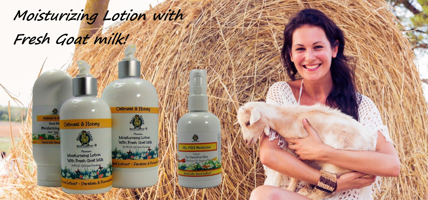 Goat Milk Lotion. Handmade by Silly Goats Soap Co.
