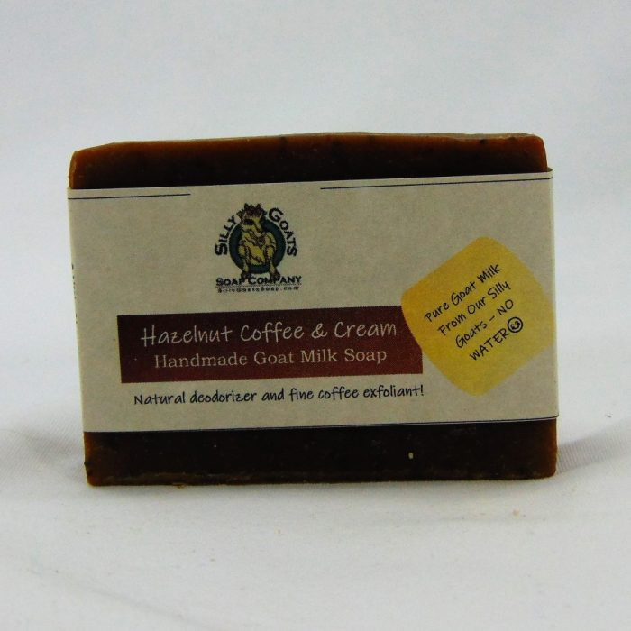 Hazelnut Coffee and Cream, Handmade Goat Milk by Silly Goats Soap Co.