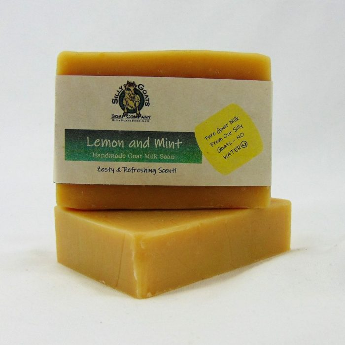 Lemon and Mint, Handmade Goat Milk by Silly Goats Soap Co.