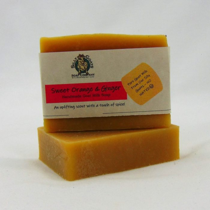 Sweet Orange and Ginger, Handmade Goat Milk by Silly Goats Soap Co.