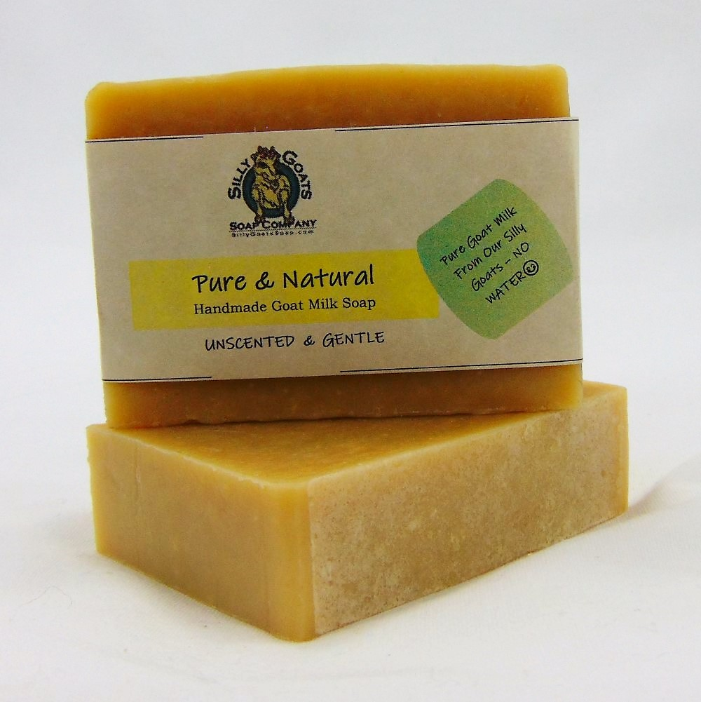 Pure & Natural - Unscented, Handmade Goat Milk by Silly Goats Soap Co.