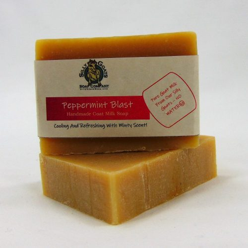 Peppermint Blast, Handmade Goat Milk by Silly Goats Soap Co.