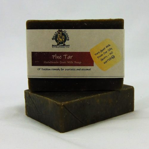 Pine Tar - Psoriasis & Eczema Treatment, Handmade Goat Milk by Silly Goats Soap Co.