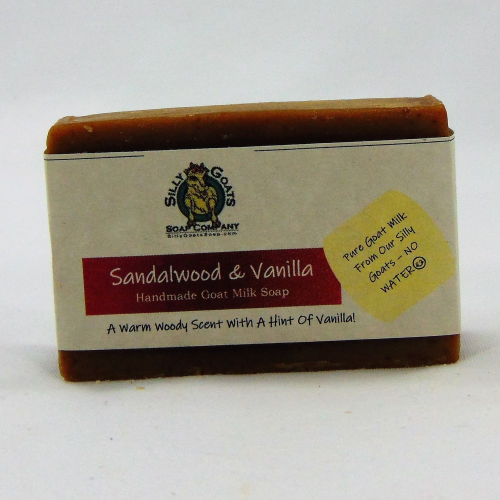 Sandalwood & Vanilla, Handmade Goat Milk by Silly Goats Soap Co.