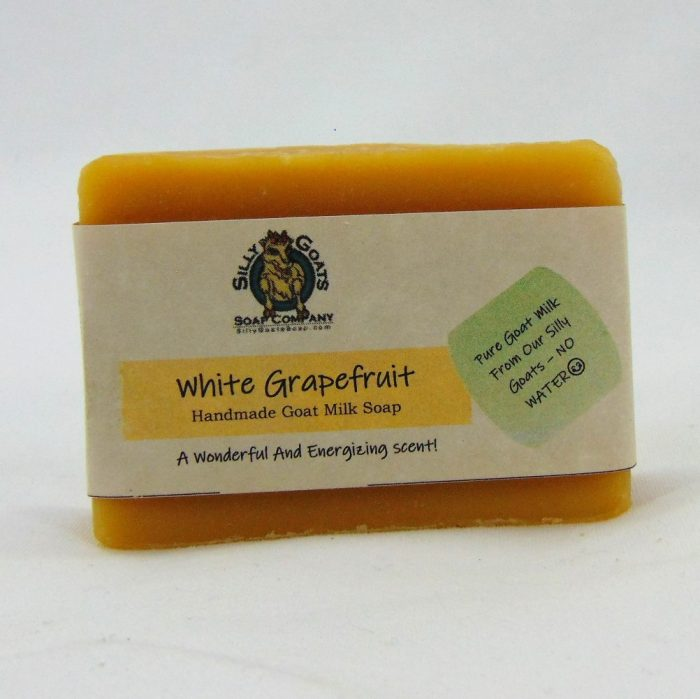 White Grapefruit Handmade Goat Milk by Silly Goats Soap Co.