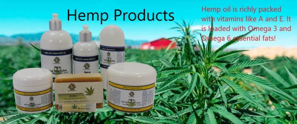 Hemp Products by Silly Goats Soap Co.