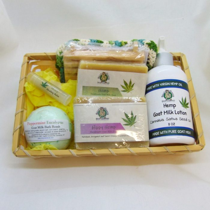 Hemp Gift Basket - Large- by Silly Goats Soap Co.