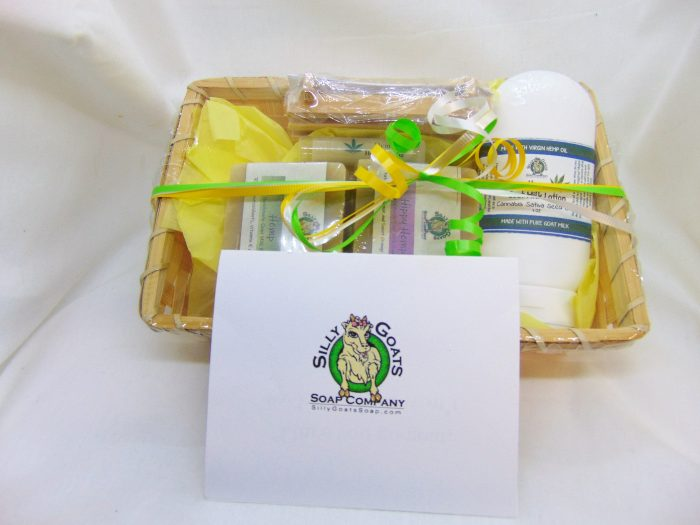Hemp Gift Basket - Medium - by Silly Goats Soap Co.