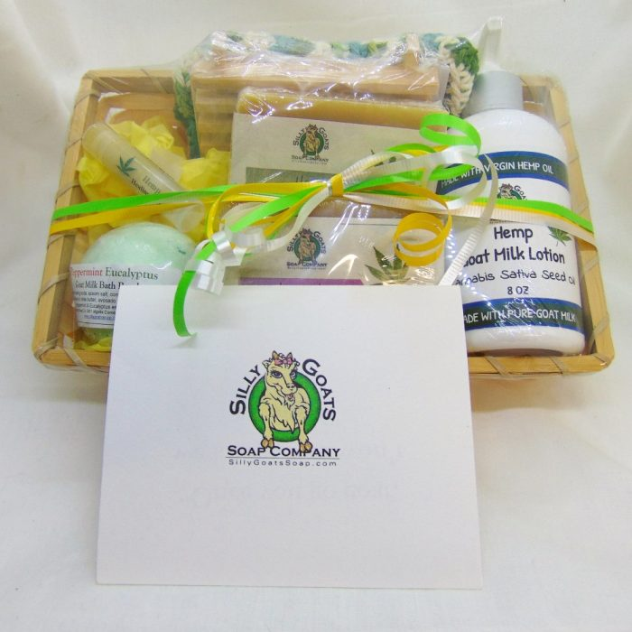 Large Hemp Gift Basket by Silly Goats Soap Co.