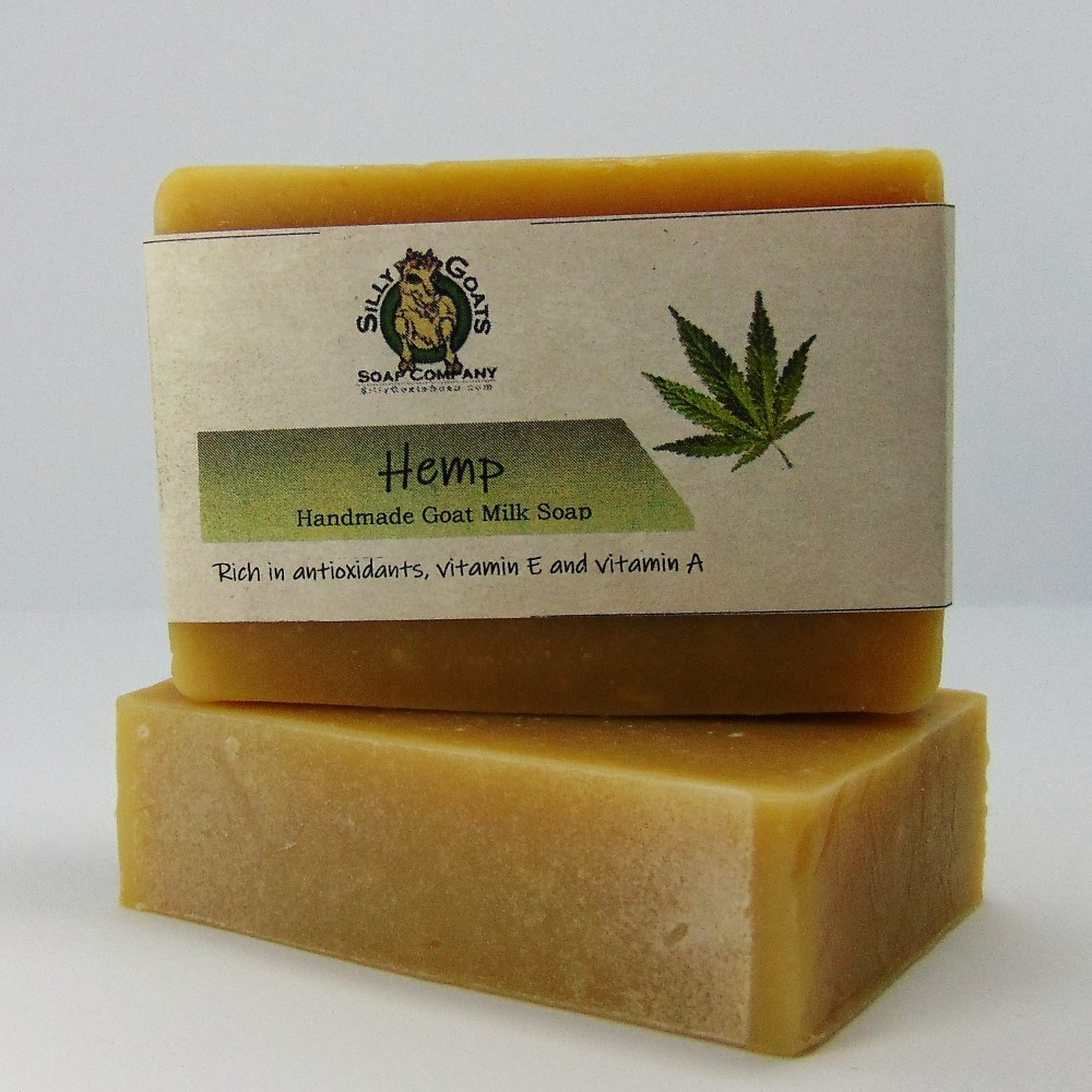 Hemp Soap - Just Hemp (unscented) by Silly Goats Soap Co. - Stacked