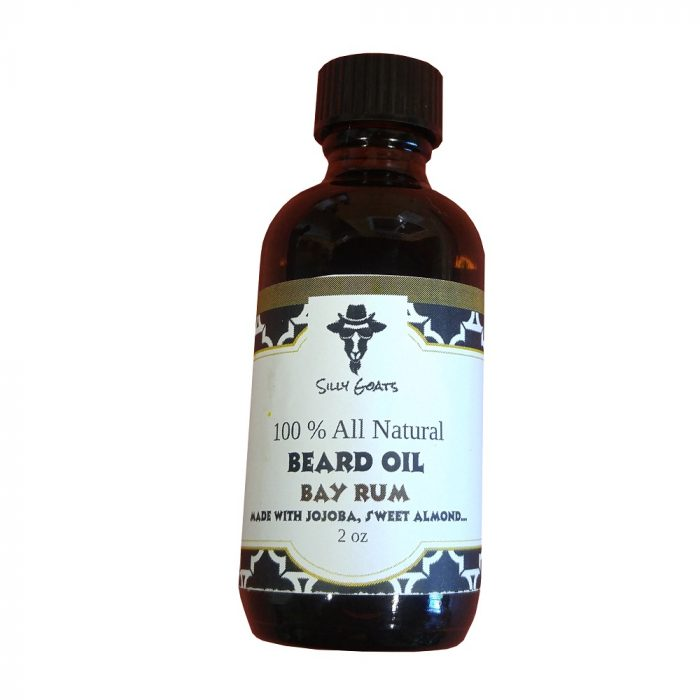 Bay Rum Beard Oil by Silly Goats Soap Company.