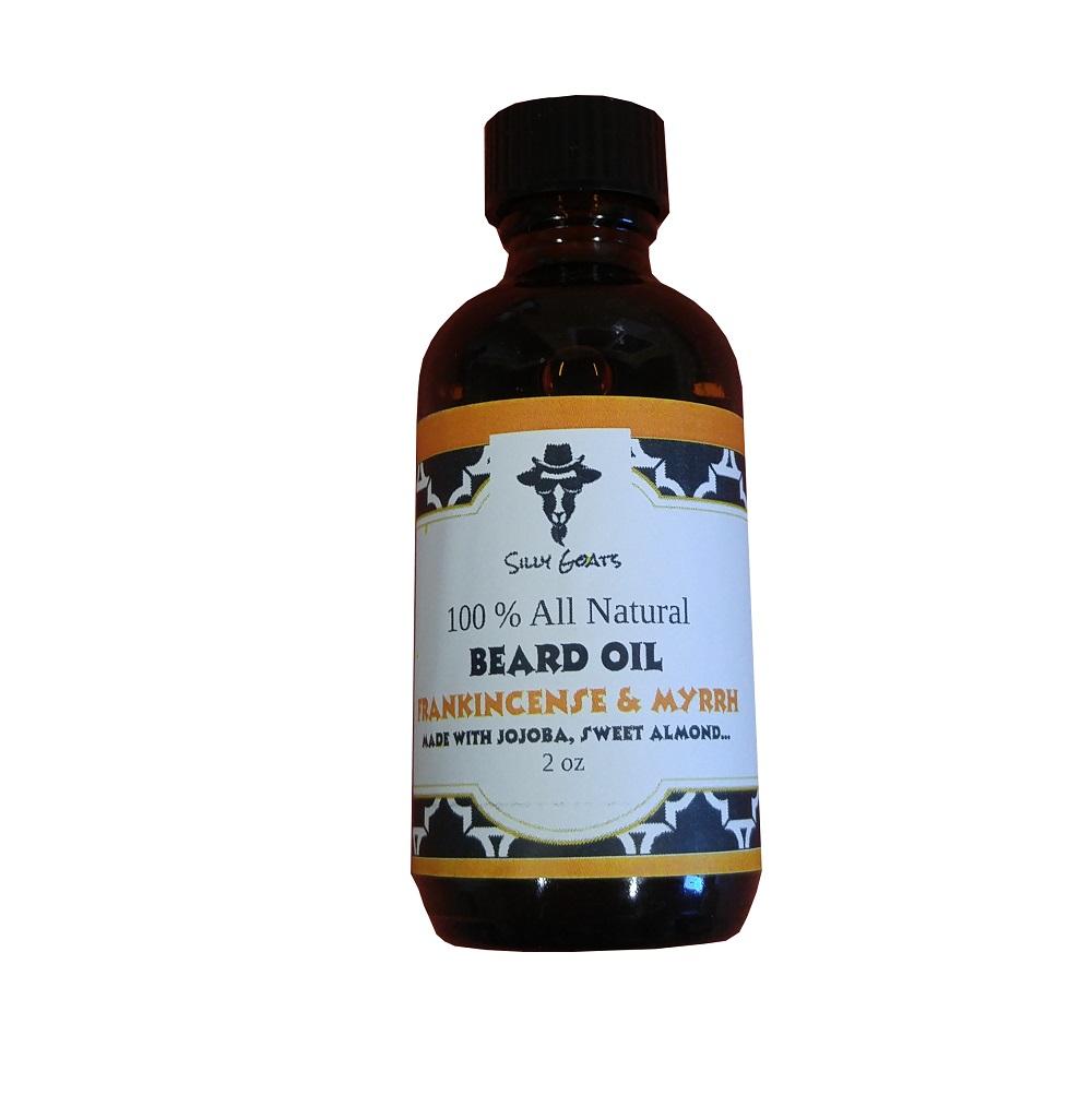 Frankincense and Myrrh by Silly Goats Soap Co. Beard Oil.